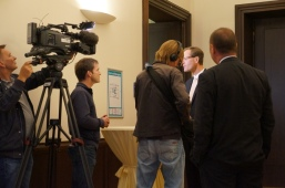 Television with Mr. Heidemeyer (Chamber of Commerce)